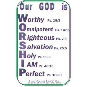 God is Worthy Poster