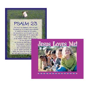 Jesus Loves Me and Psalm 23 Poster Set