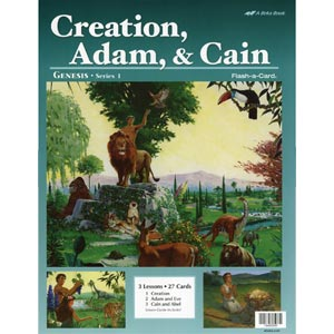 Creation, Adam, and Cain Flash-a-Cards