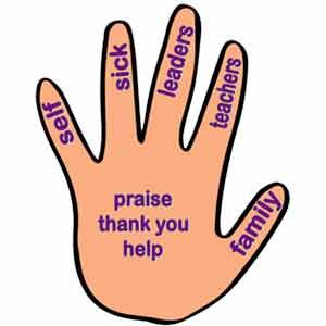 Five-Fingered Prayer Take Home