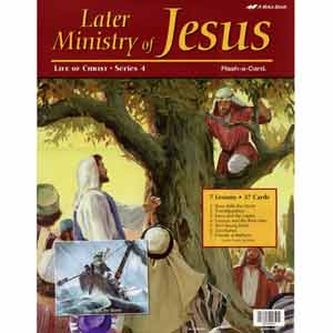 Later Ministry of Jesus Flash-a-Cards