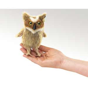 Great Horned Owl Finger Puppet