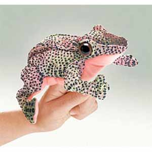 Red legged Frog Finger Puppet