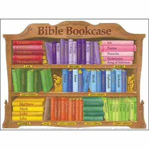 Bible Bookcase Wall Chart Laminated