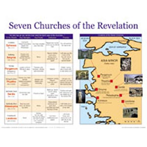 Seven Churches of the Revelation Wall Chart