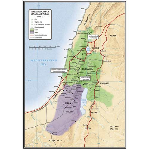 The Kingdoms of Israel and Judah - Maps and Timelines - on map of vatican city, map of golan heights, map of mediterranean sea, map of mauritius, map of lebanon, map of world, map of west bank, map of holy land, map of dead sea, map of red sea, map of syria, map of saudi arabia, map of middle east, map of iran, map of jerusalem, map of qatar, map of eastern caribbean, map of persian gulf, map of palestine, map of sea of galilee,